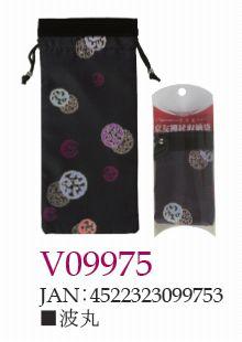 ささえ京友禅 「波丸」収納袋 (四つ折杖用:V84型)